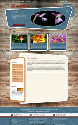 Retro Floral Website Template