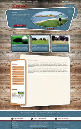 Retro Golf Website Template