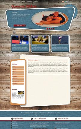 Retro Gymnastics Website Template