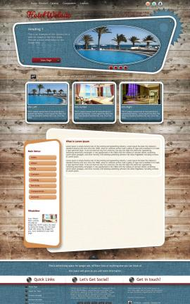 Retro Hotel Website Template