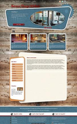 Retro Interior-design Website Template