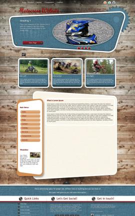 Retro Motocross Website Template