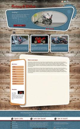 Retro Motorcycle Website Template