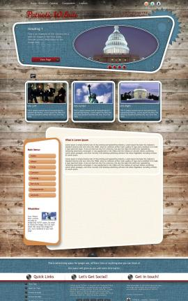 Retro Patriotic Website Template