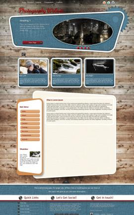 Retro Photography Website Template