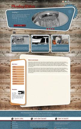Retro Plumbing Website Template