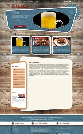 Retro Pub Website Template