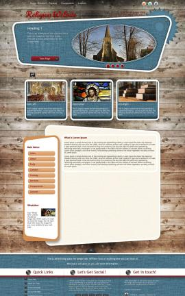 Retro Religion Website Template
