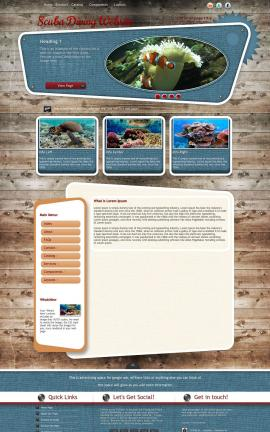 Retro Scuba-diving Website Template