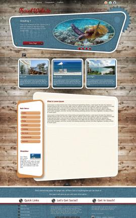 Retro Travel Website Template