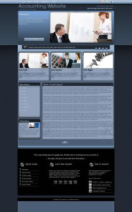 Accolade Accounting Website Template