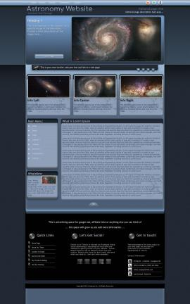 Accolade Astronomy Website Template
