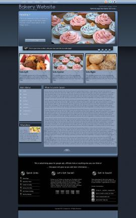 Accolade Bakery Website Template