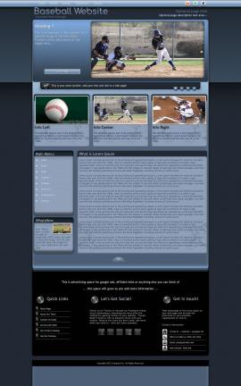 Accolade Baseball Website Template
