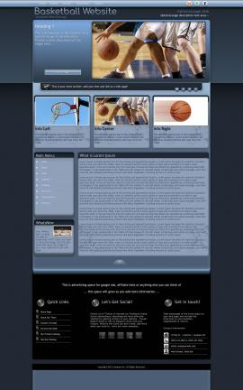 Accolade Basketball Website Template