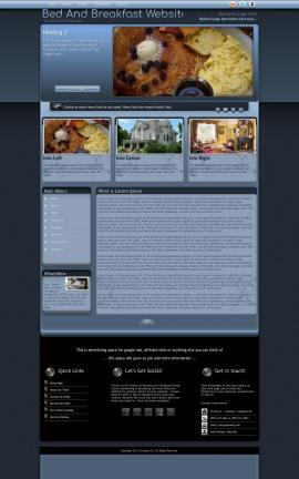 Accolade Bed-and-breakfast Website Template