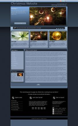 Accolade Christmas Website Template