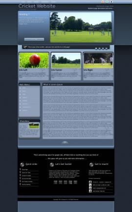 Accolade Cricket Website Template