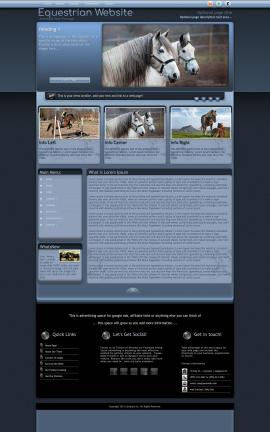 Accolade Equestrian Website Template