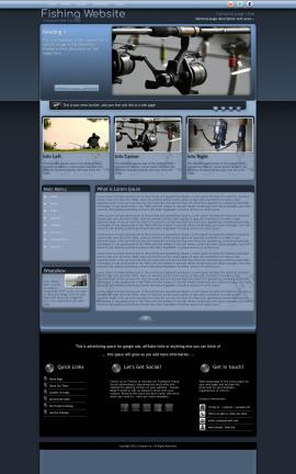 Accolade Fishing Website Template