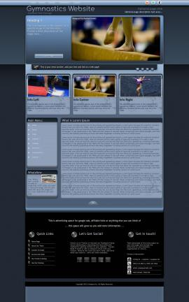 Accolade Gymnastics Website Template