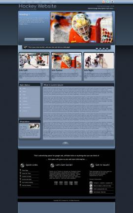 Accolade Hockey Website Template