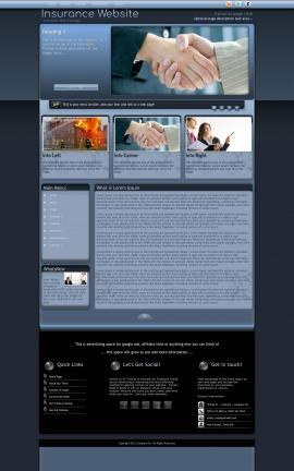 Accolade Insurance Website Template