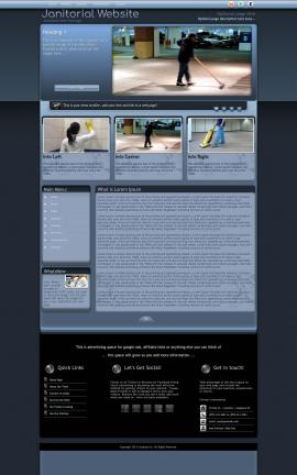 Accolade Janitorial Website Template