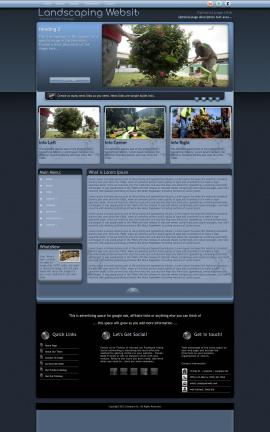 Accolade Landscaping Website Template