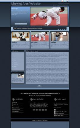Accolade Martial-arts Website Template