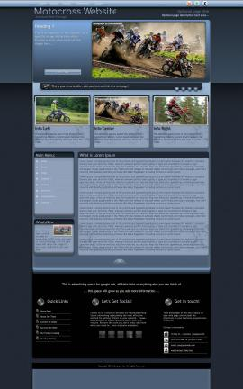 Accolade Motocross Website Template