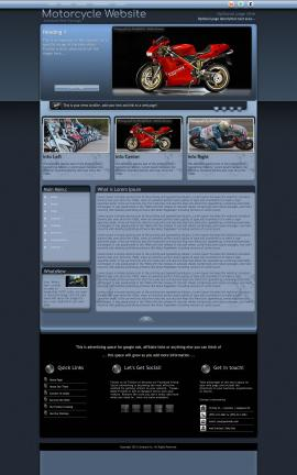 Accolade Motorcycle Website Template