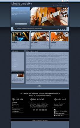Accolade Music Website Template