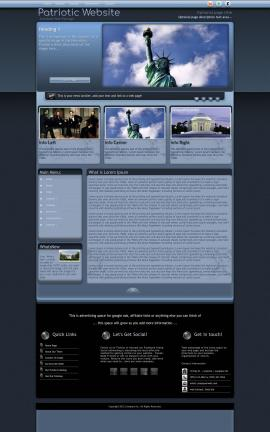 Accolade Patriotic Website Template