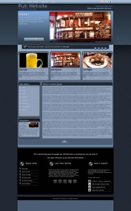 Accolade Pub Website Template