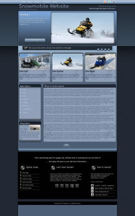 Accolade Snowmobile Website Template
