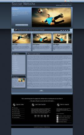 Accolade Soccer Website Template