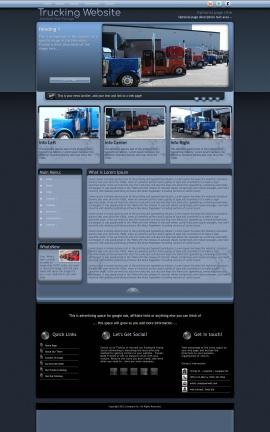 Accolade Trucking Website Template