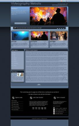 Accolade Videography Website Template