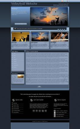 Accolade Volleyball Website Template