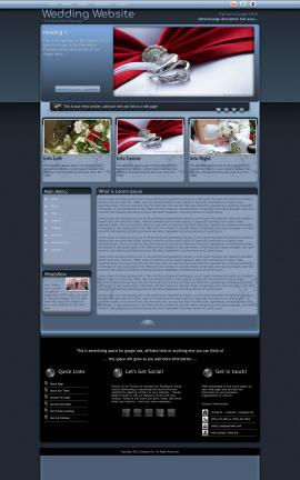 Accolade Wedding Website Template