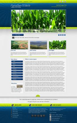 Infusion Agriculture Website Template