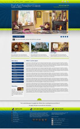 Infusion Bed-and-breakfast Website Template