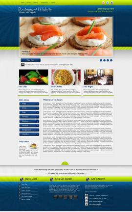 Infusion Restaurant Website Template