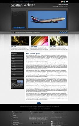 Backdrop Aviation Dreamweaver Template