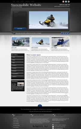 Backdrop Snowmobile Website Template