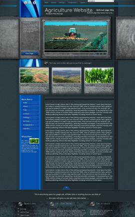 Radius Agriculture Website Template