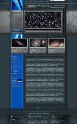 Radius Astronomy Website Template