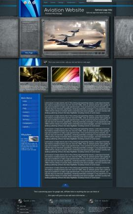 Radius Aviation Dreamweaver Template