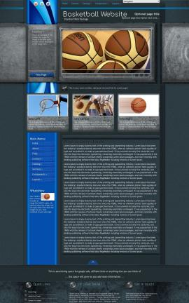 Radius Basketball Website Template